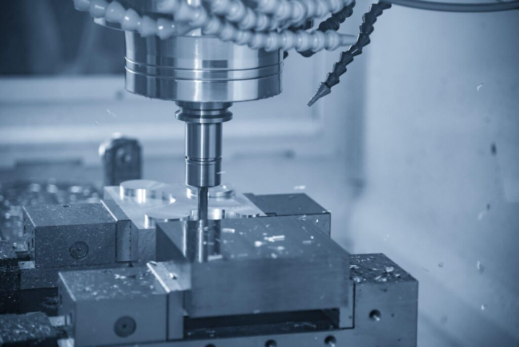 CNC milling machine finishing cut the injection mold parts by indexable solid ball endmill tools
